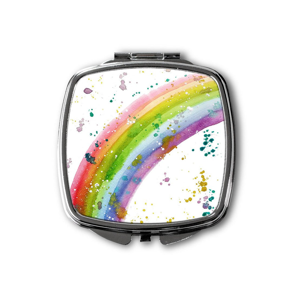 Rainbow Square Compact Mirror