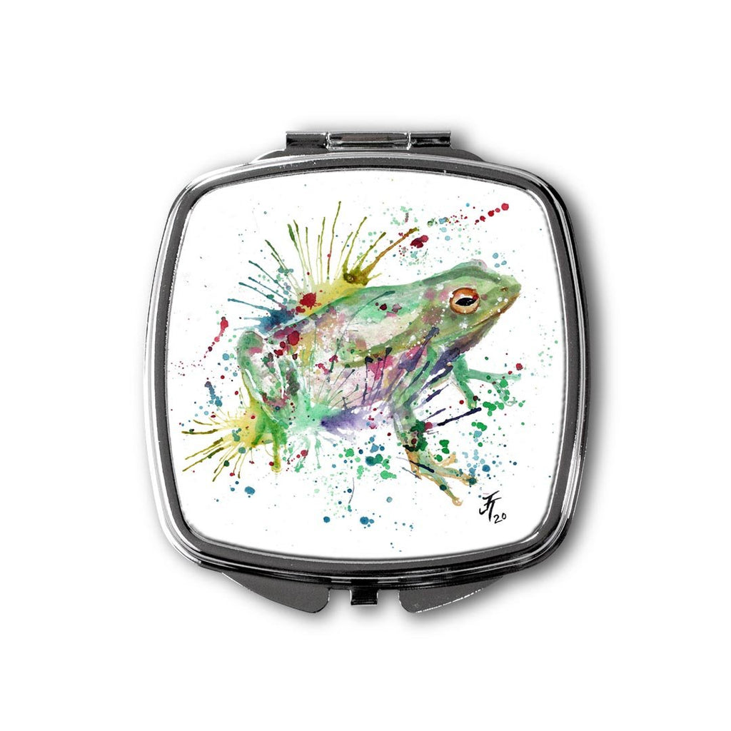 """Ribbit"" Frog Square Compact Mirror"