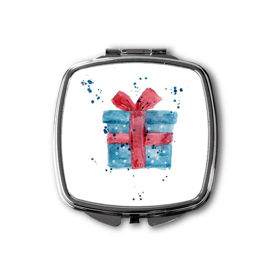Christmas Present Square Compact Mirror