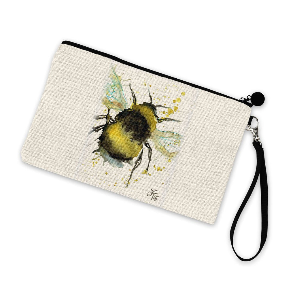 Bumble Bee Linen Cosmetic Bag