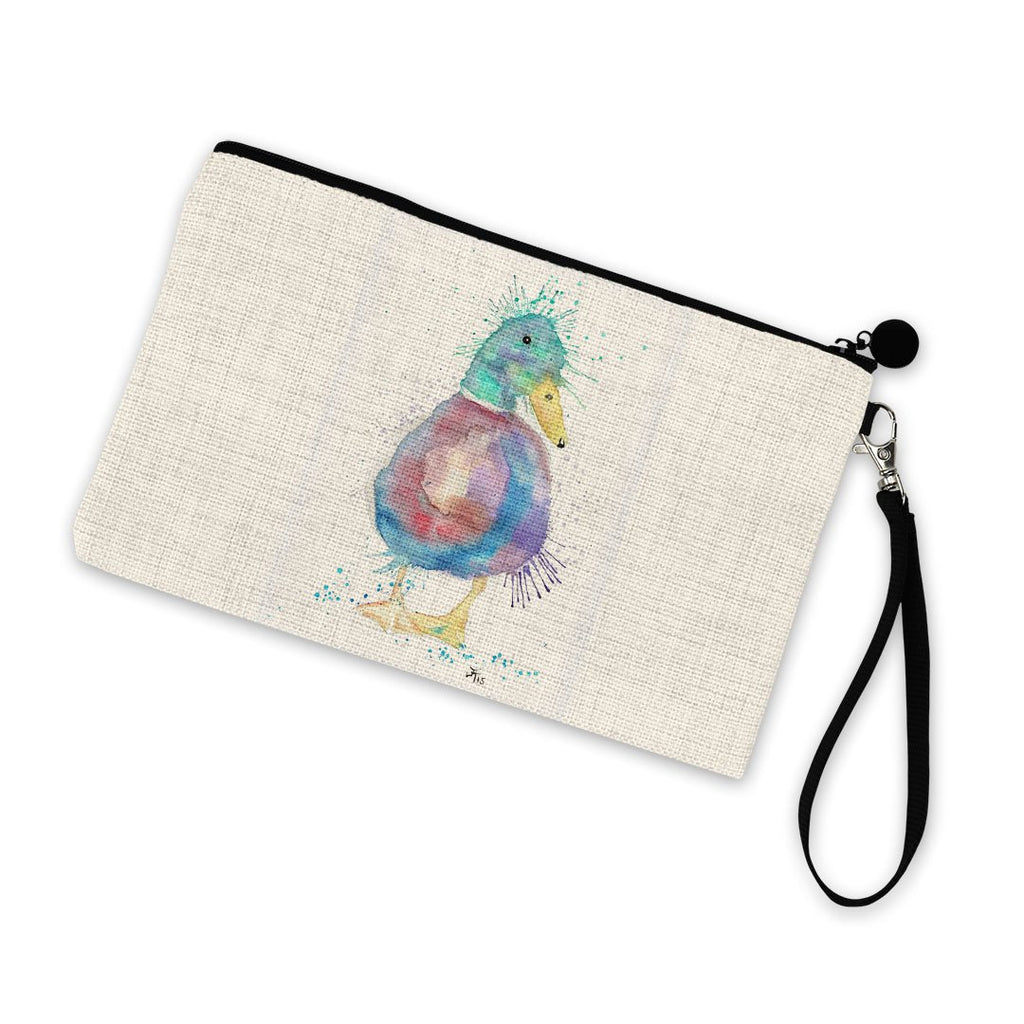 Monsieur Puddle Duck Linen Cosmetic Bag
