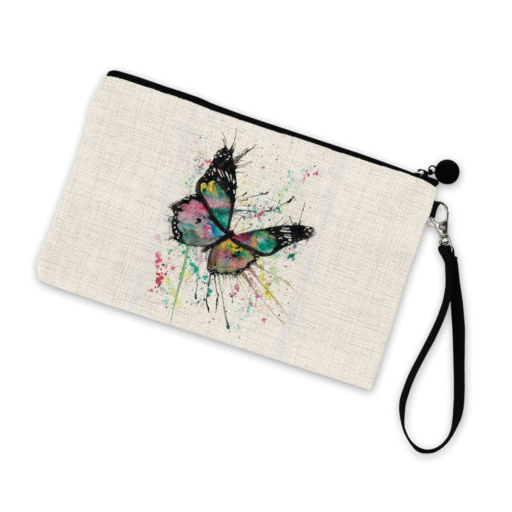 """Flutter"" Butterfly Linen Cosmetic Bag"
