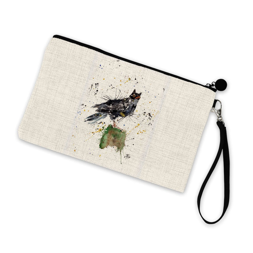 Blackbird Batman Linen Cosmetic Bag