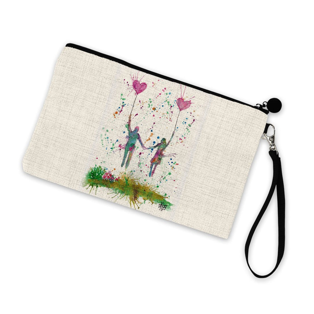 Fly Away With Me Linen Cosmetic Bag