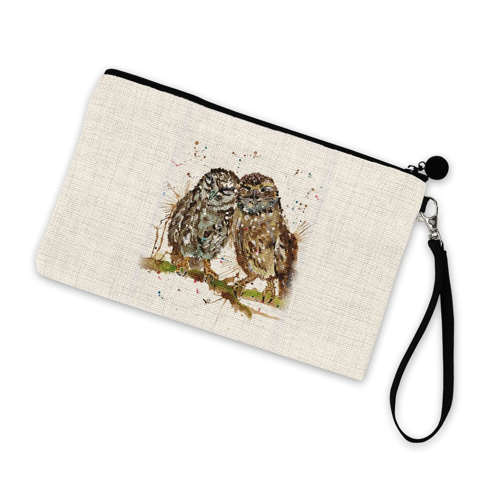 My Favourite Owl Linen Cosmetic Bag