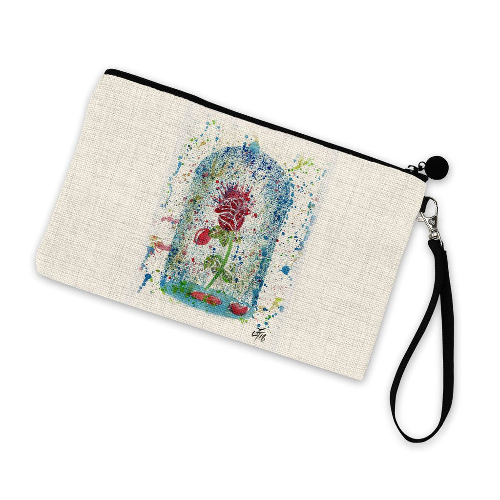 Magic Rose Linen Cosmetic Bag