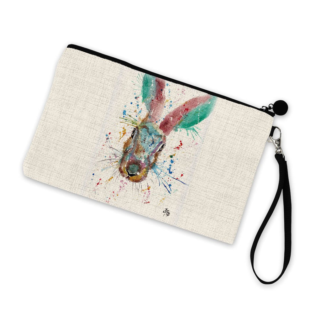 Riddle Hare Linen Cosmetic Bag