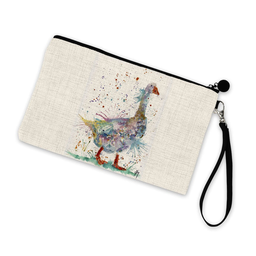 """Gerty"" Goose Linen Cosmetic Bag"