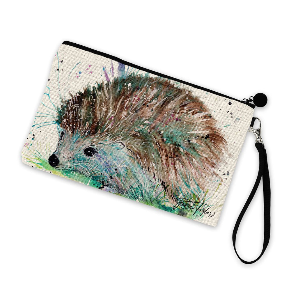 """Sweet"" Hedgehog Linen Cosmetic Bag"