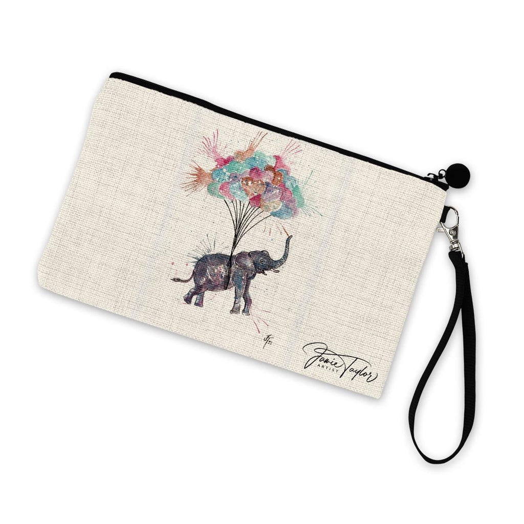 Up! Up! and Away! Linen Cosmetic Bag