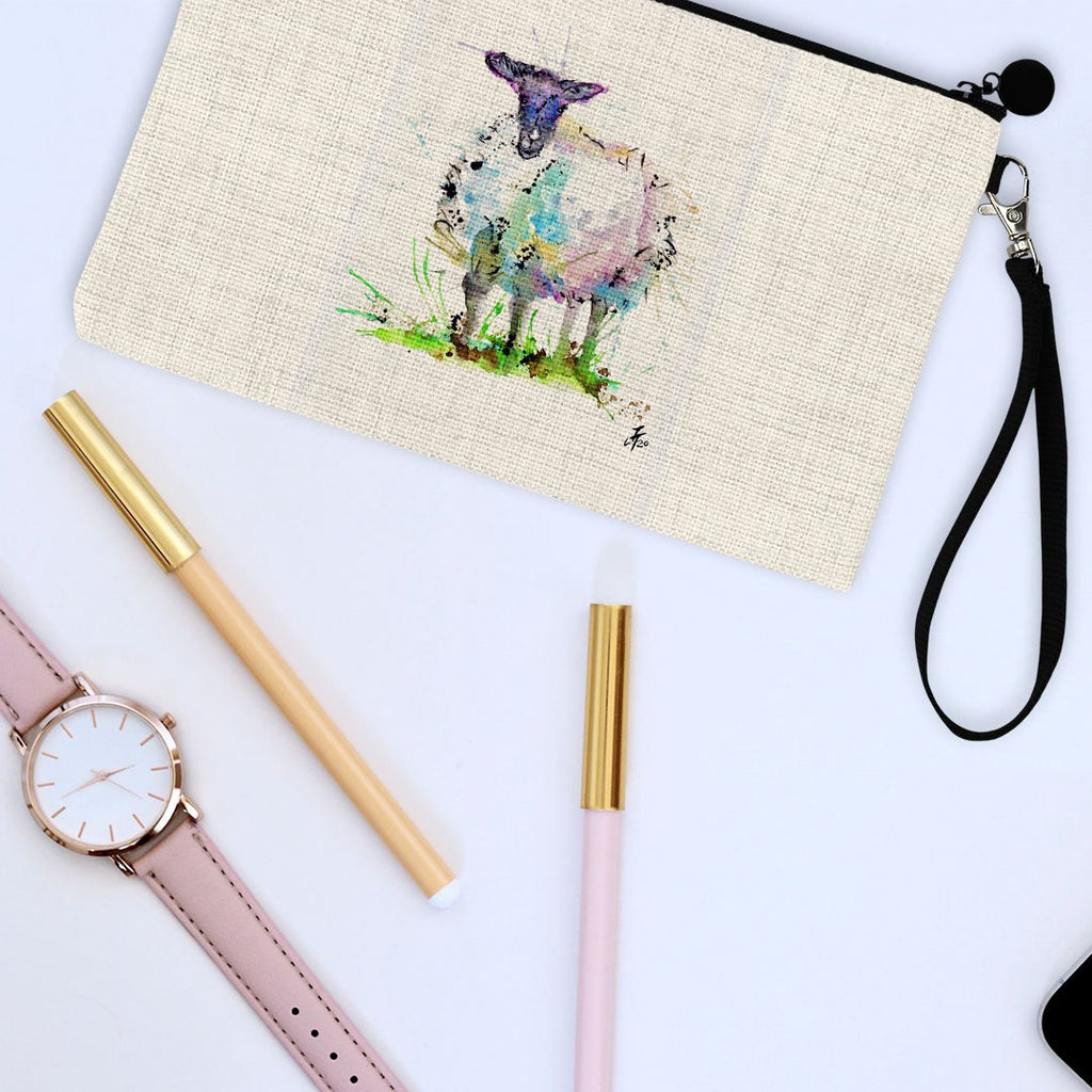"""I Adore Ewe"" Sheep Linen Cosmetic Bag"