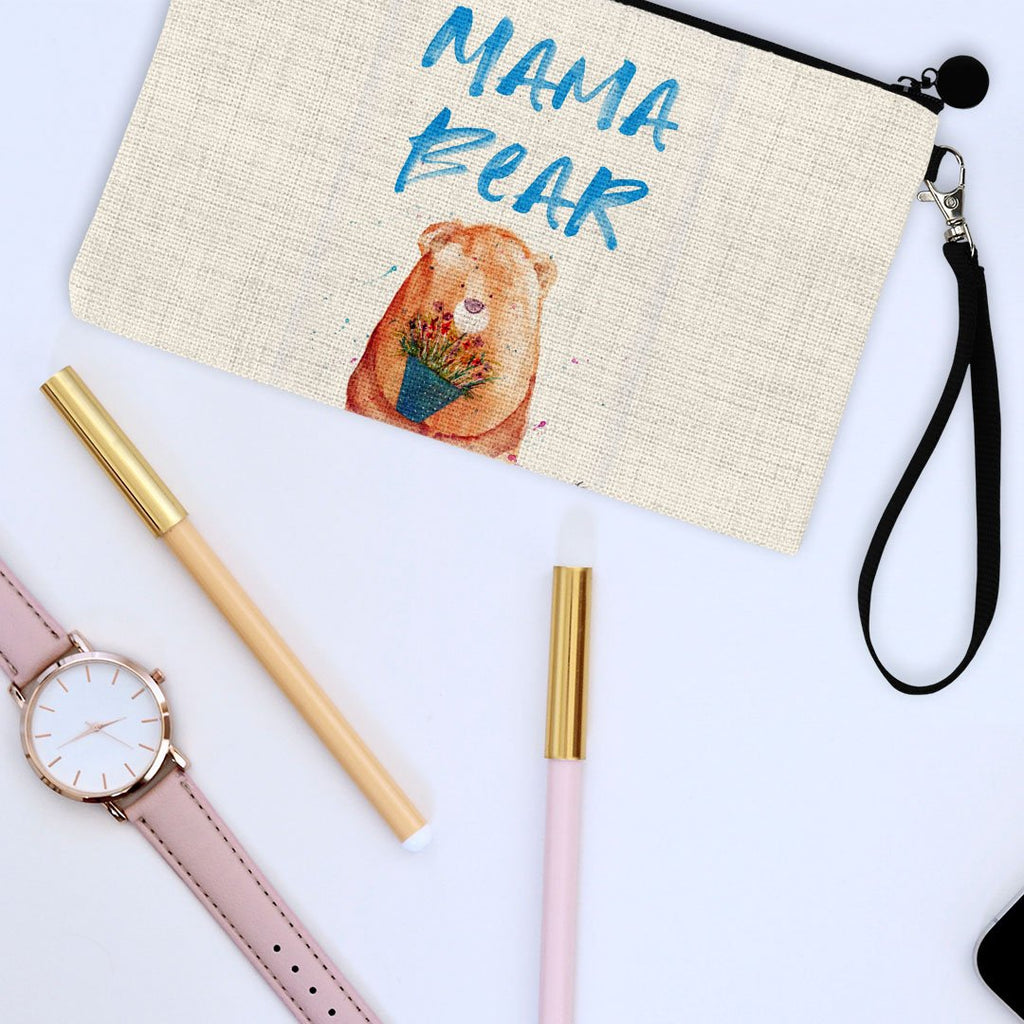 Mama Bear 2020 Linen Cosmetic Bag