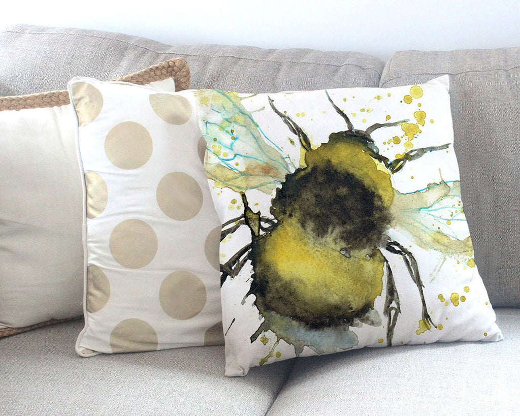 Bumble Bee Canvas Cushion Cover