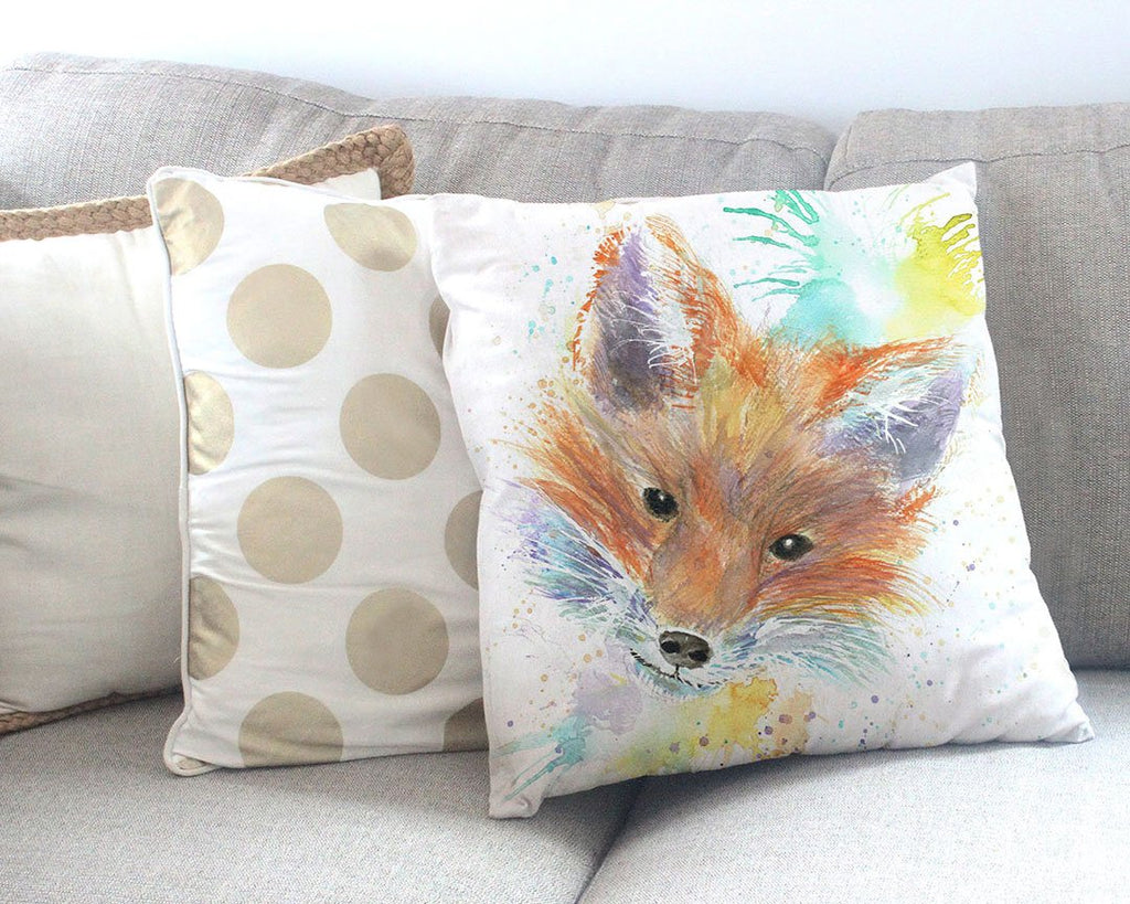 Mr Foxy Canvas Cushion Cover