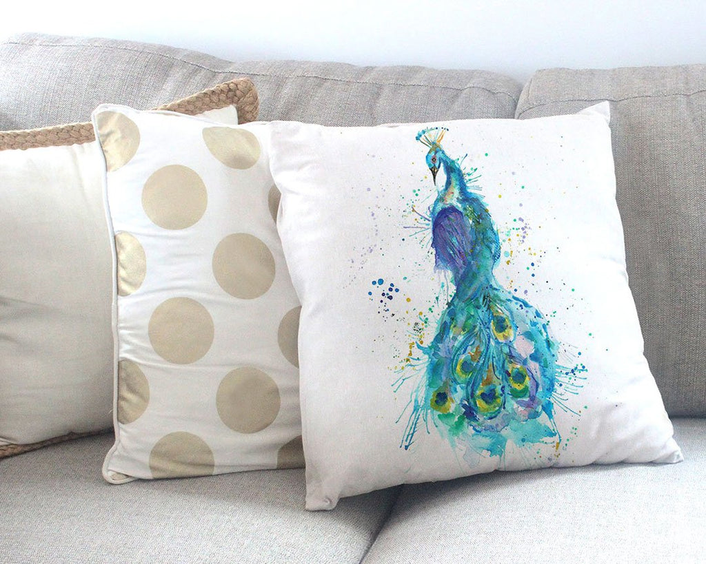 """Prince"" Peacock Canvas Cushion Cover"