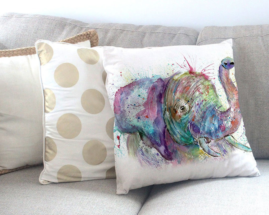 """Ele"" Elephant Canvas Cushion Cover"