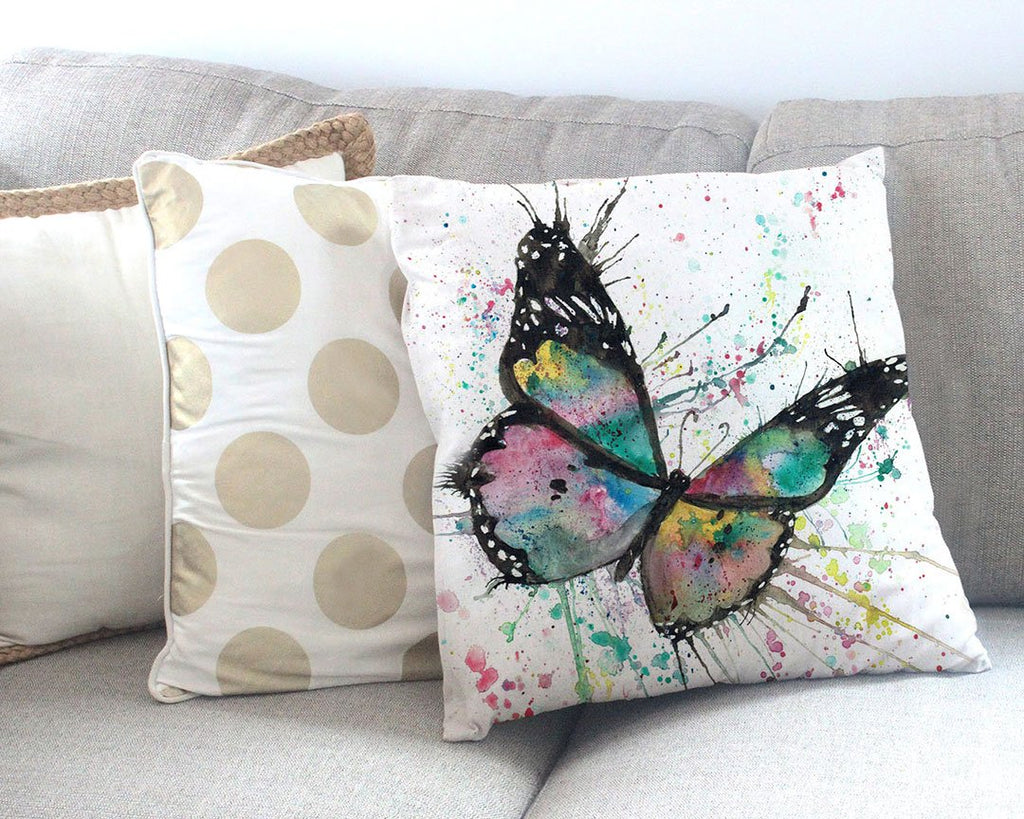 """Flutter"" Butterfly Canvas Cushion Cover"