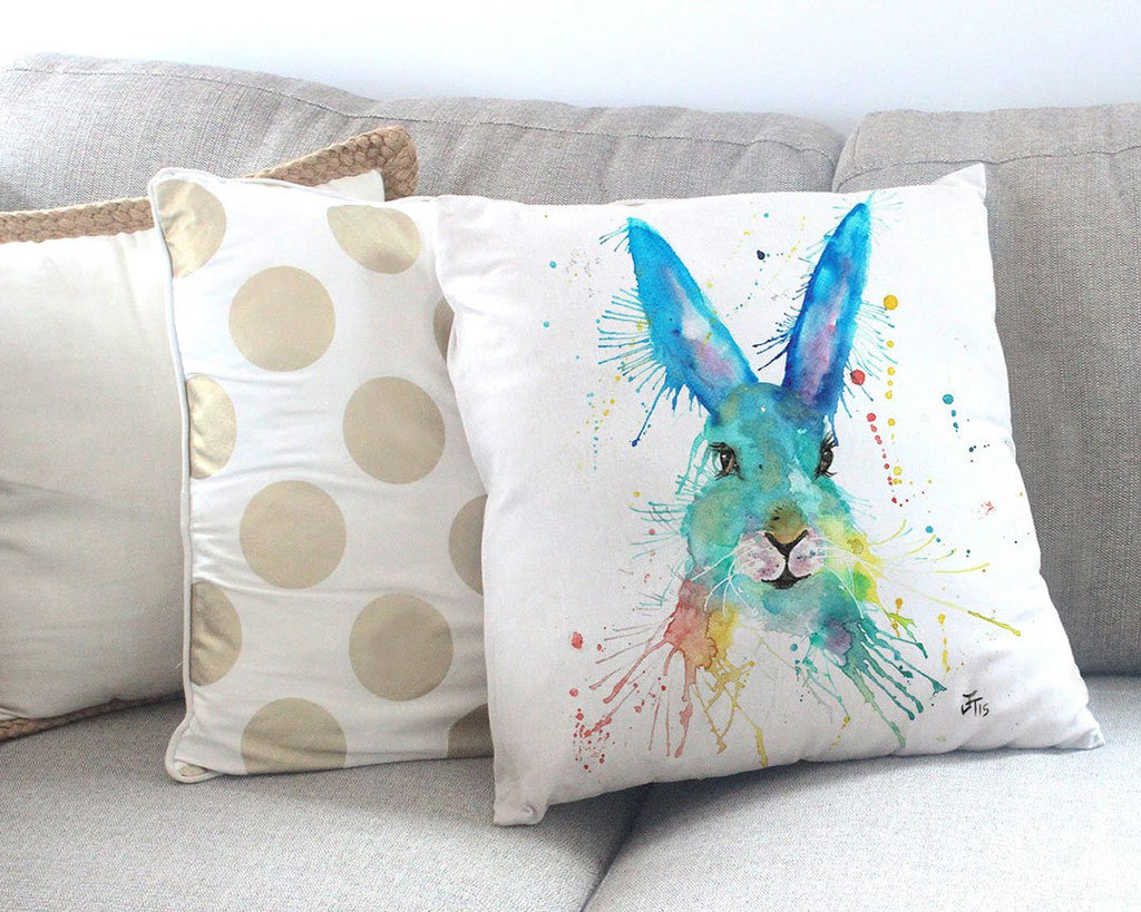 Hare Hare Canvas Cushion Cover
