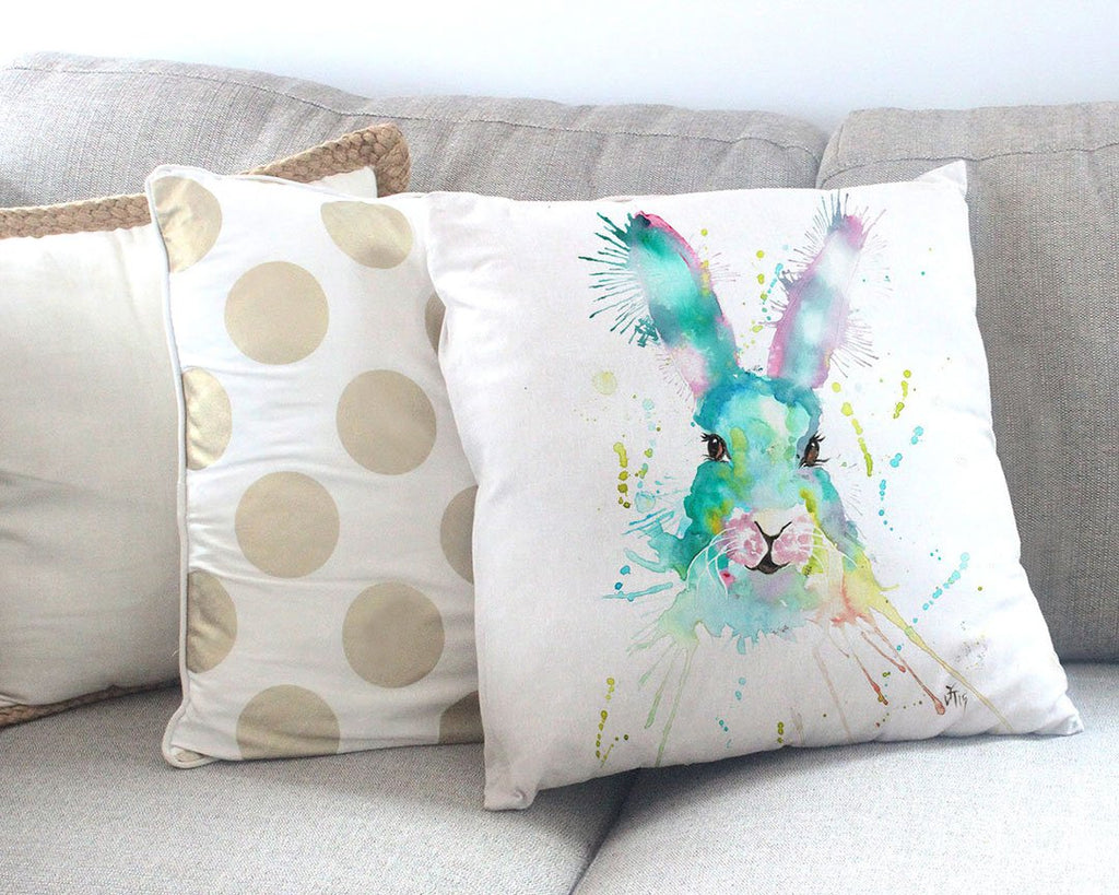 """Mystic"" Hare Canvas Cushion Cover"