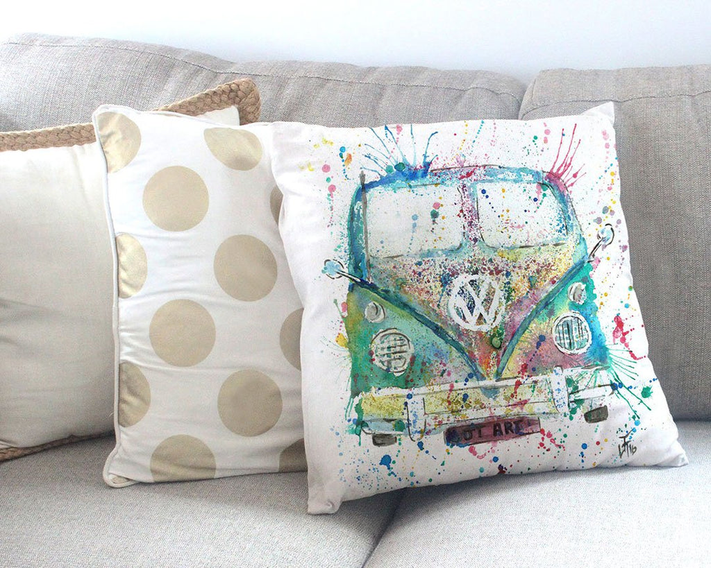 Camper Van Canvas Cushion Cover