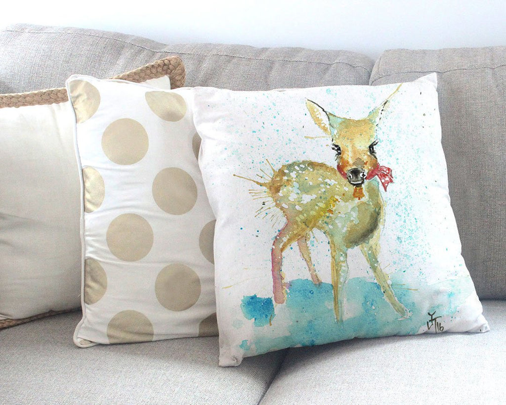Oh Deer Canvas Cushion Cover
