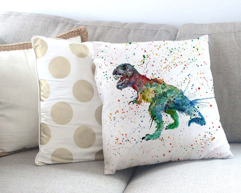 """Gary"" T-Rex Canvas Cushion Cover"