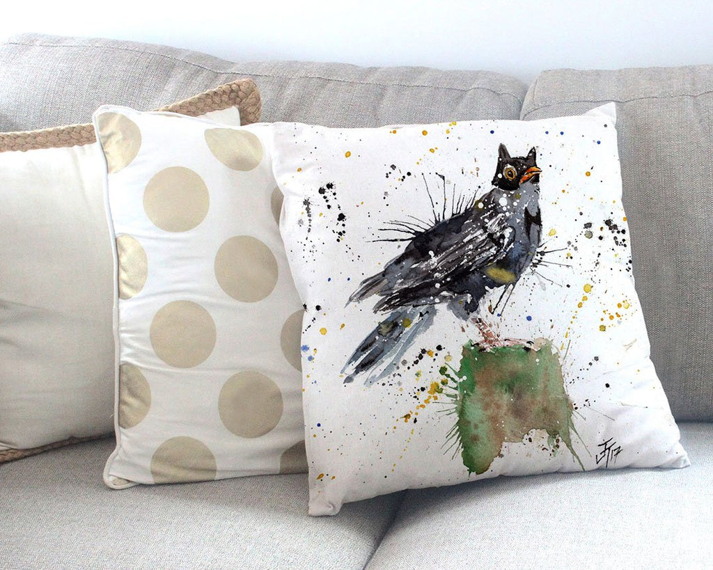Blackbird Batman Canvas Cushion Cover