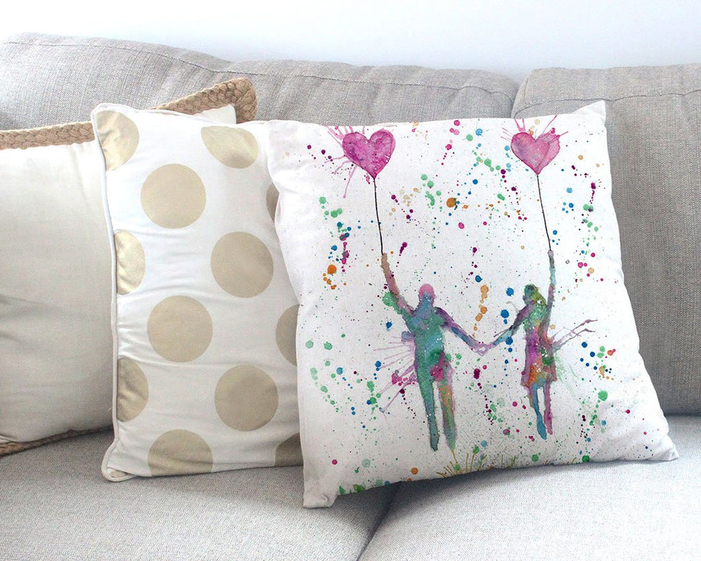 Fly Away With Me Canvas Cushion Cover