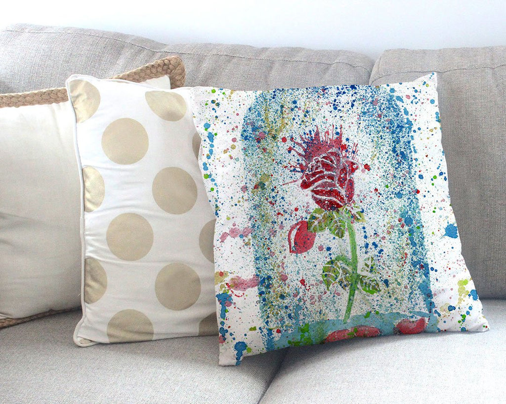 Magic Rose Canvas Cushion Cover