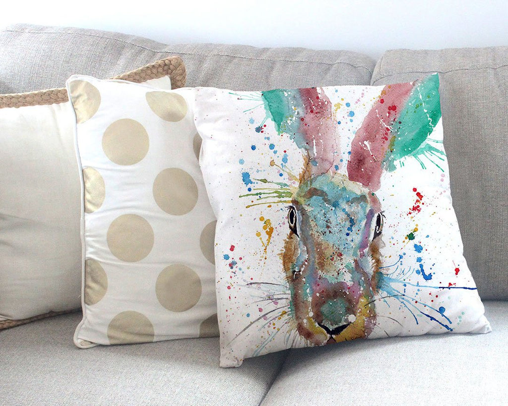 Riddle Hare Canvas Cushion Cover