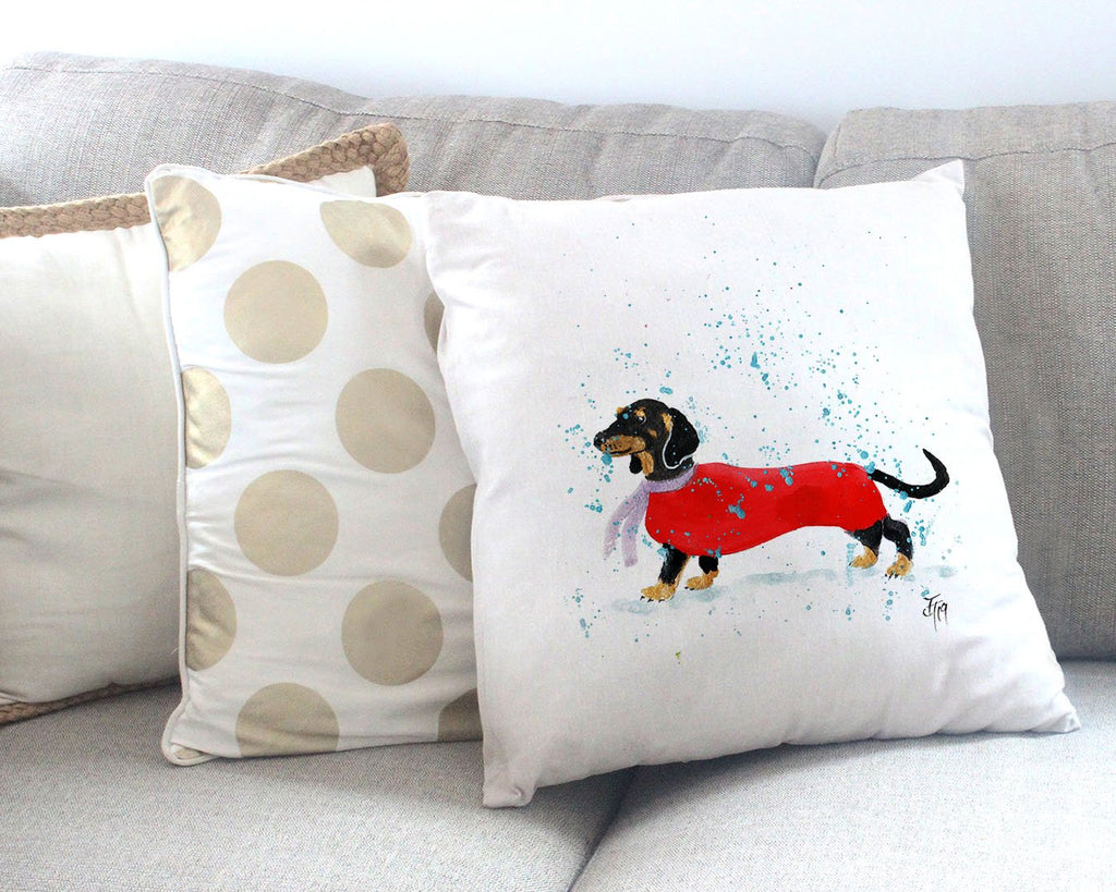Sausage Roll Canvas Cushion Cover