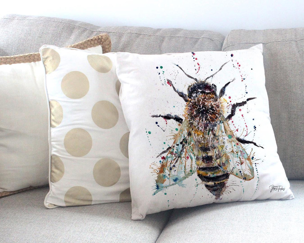 Honey Canvas Cushion Cover