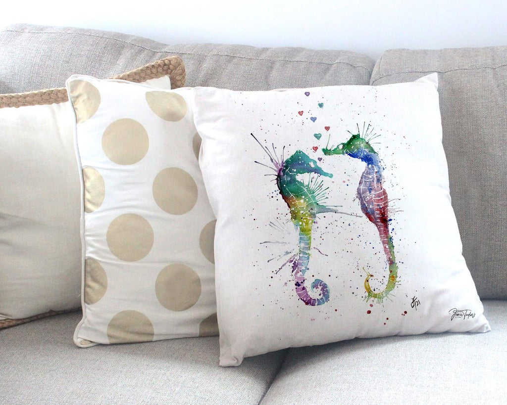 You and Me Canvas Cushion Cover
