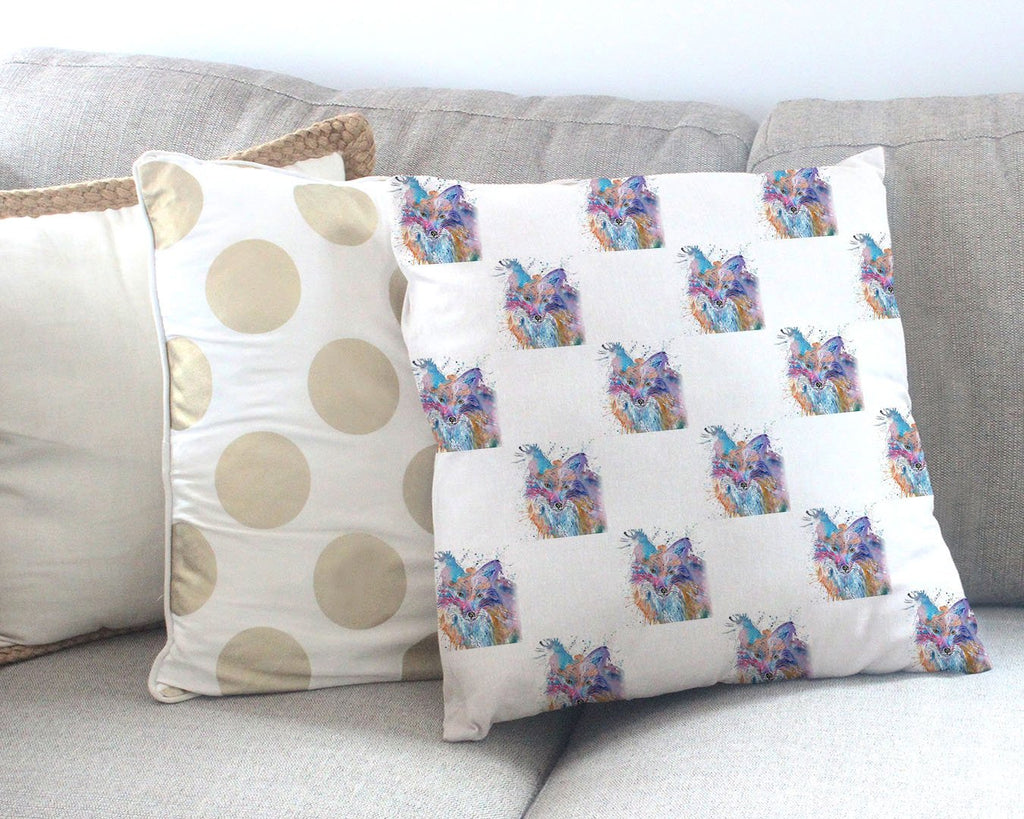 Night Foz Repeat Canvas Cushion Cover