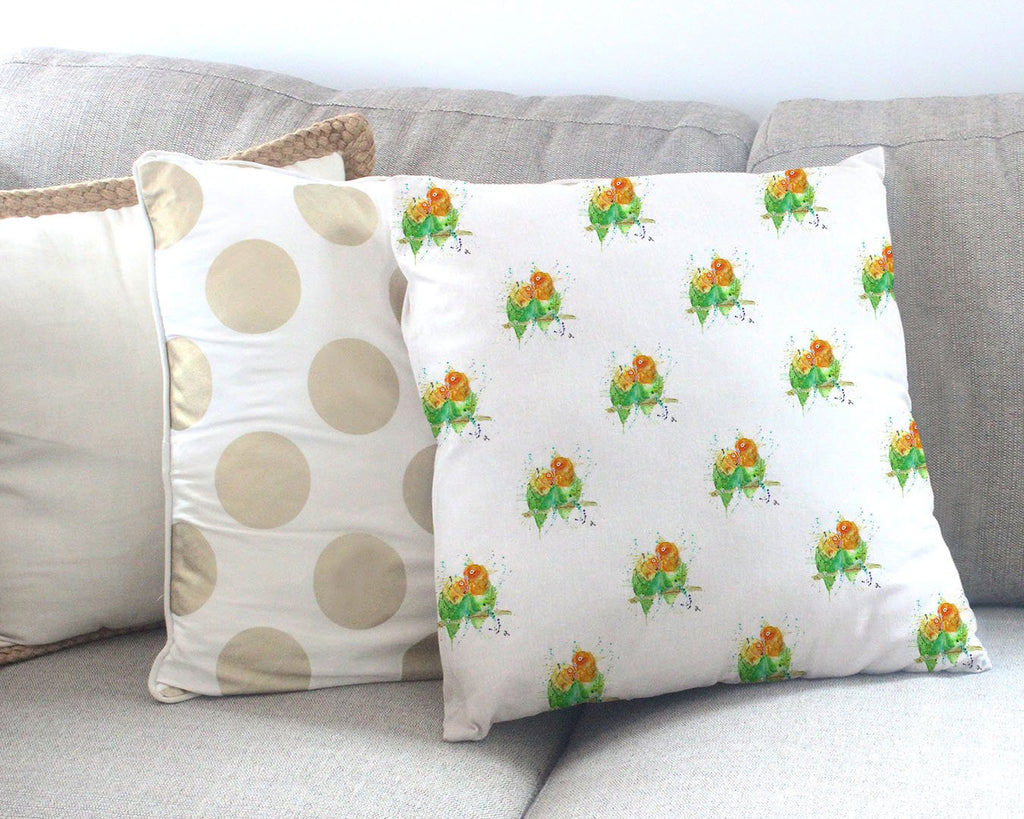Love Birds Repeat Canvas Cushion Cover