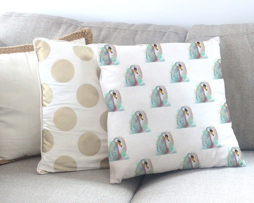 Swan Repeat Canvas Cushion Cover