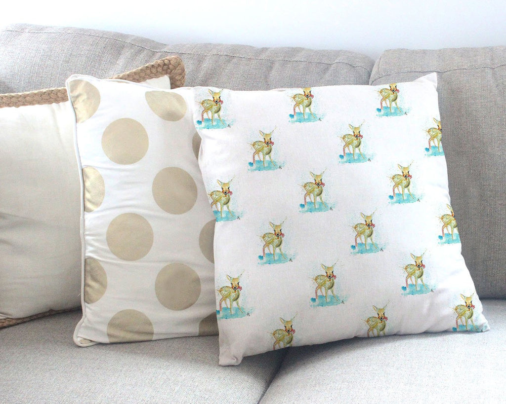 Oh Deer Repeat Canvas Cushion Cover