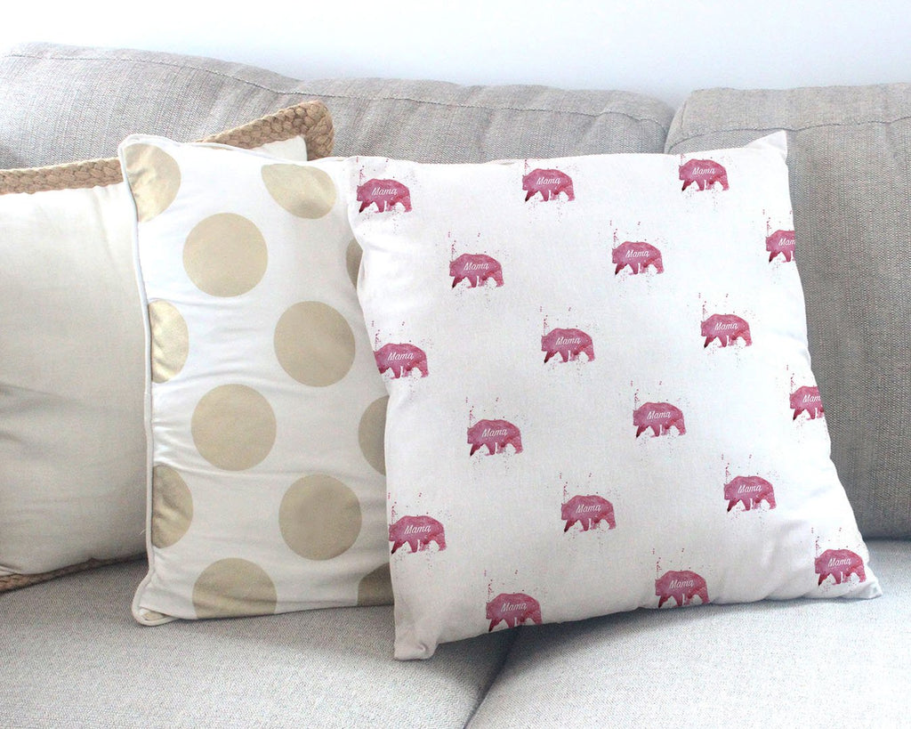Mama Bear Repeat Canvas Cushion Cover