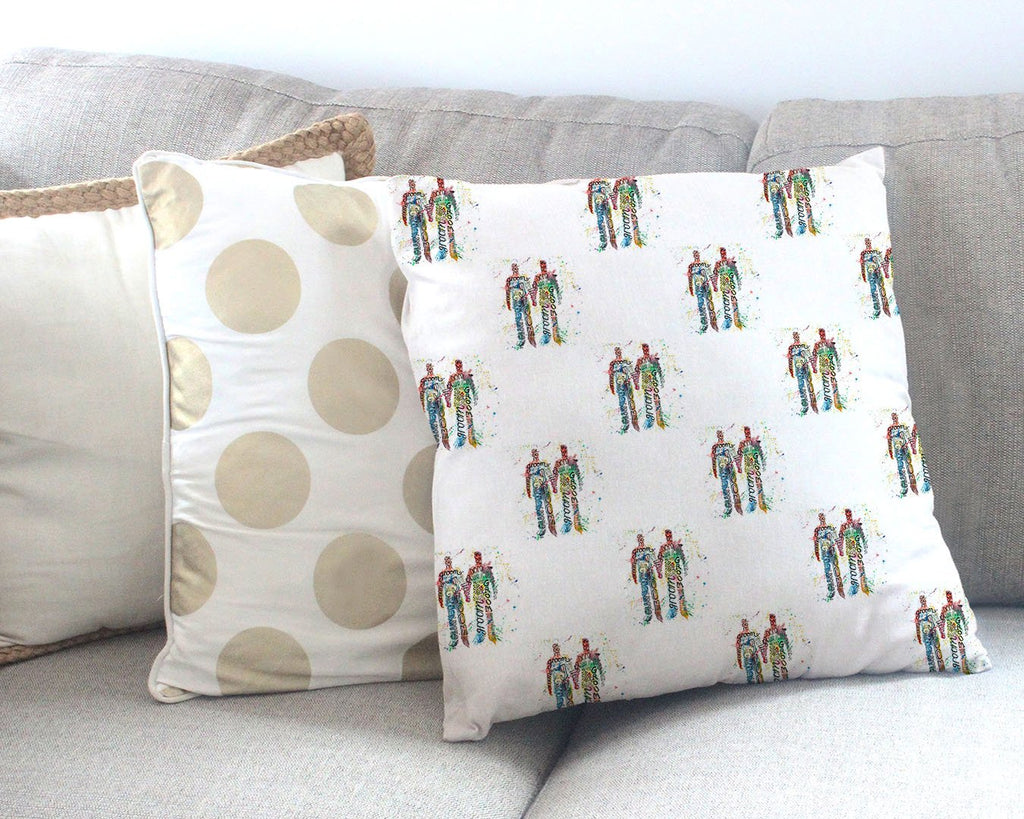 Groom & Groom Repeat Canvas Cushion Cover