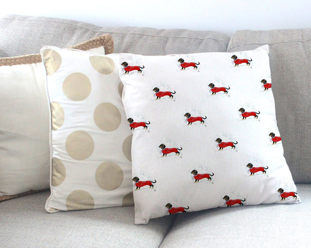 Sausage Roll Repeat Canvas Cushion Cover