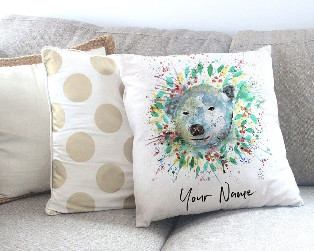 Polar Personalised Canvas Cushion Cover