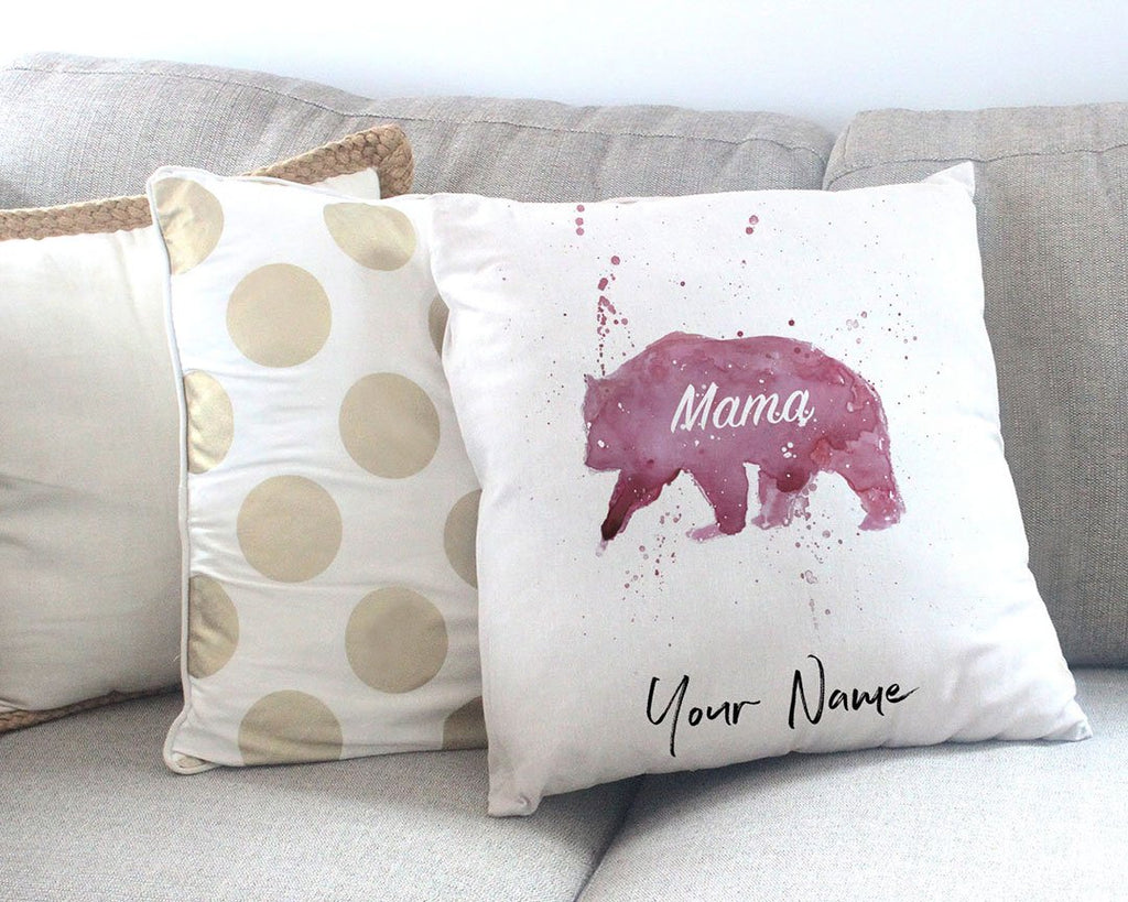 Mama Bear Personalised Canvas Cushion Cover