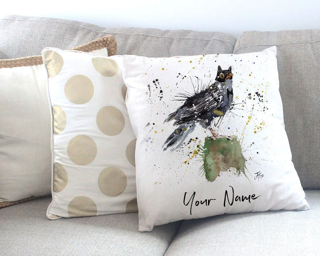 Blackbird Batman Personalised Canvas Cushion Cover