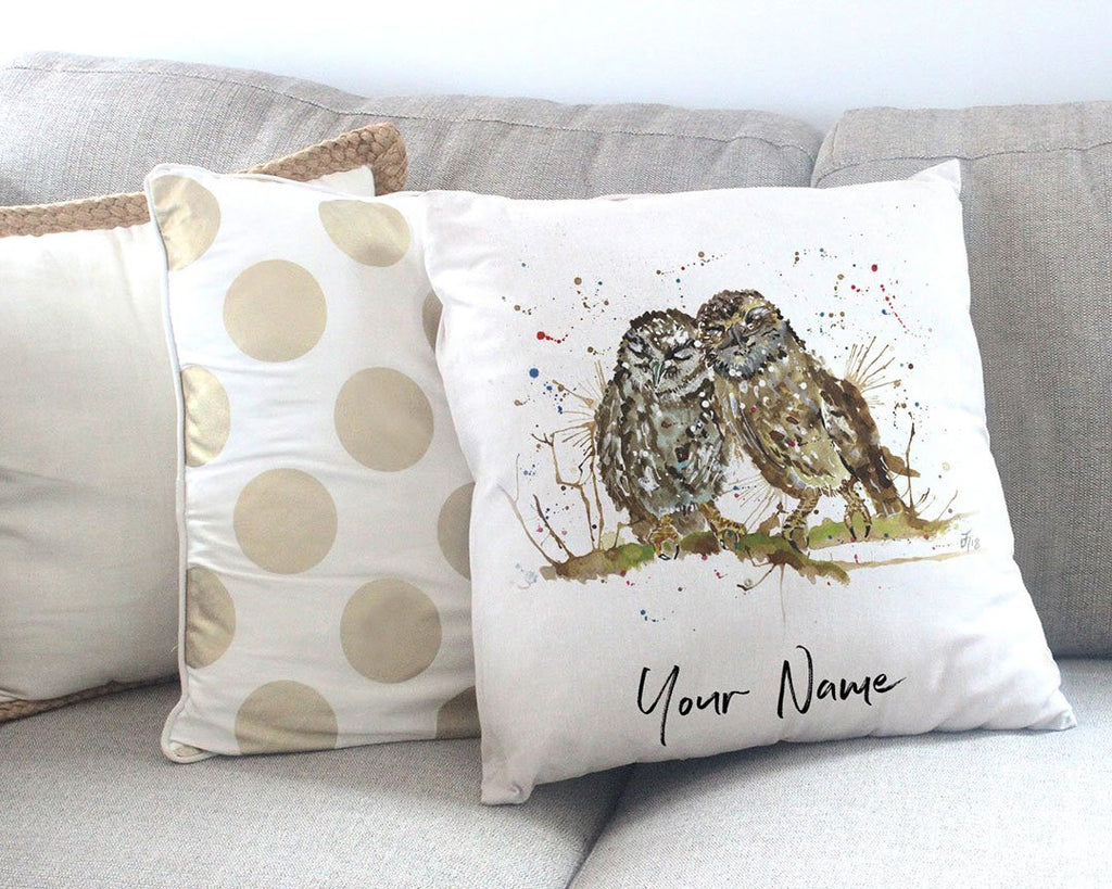 My Favourite Owl Personalised Canvas Cushion Cover