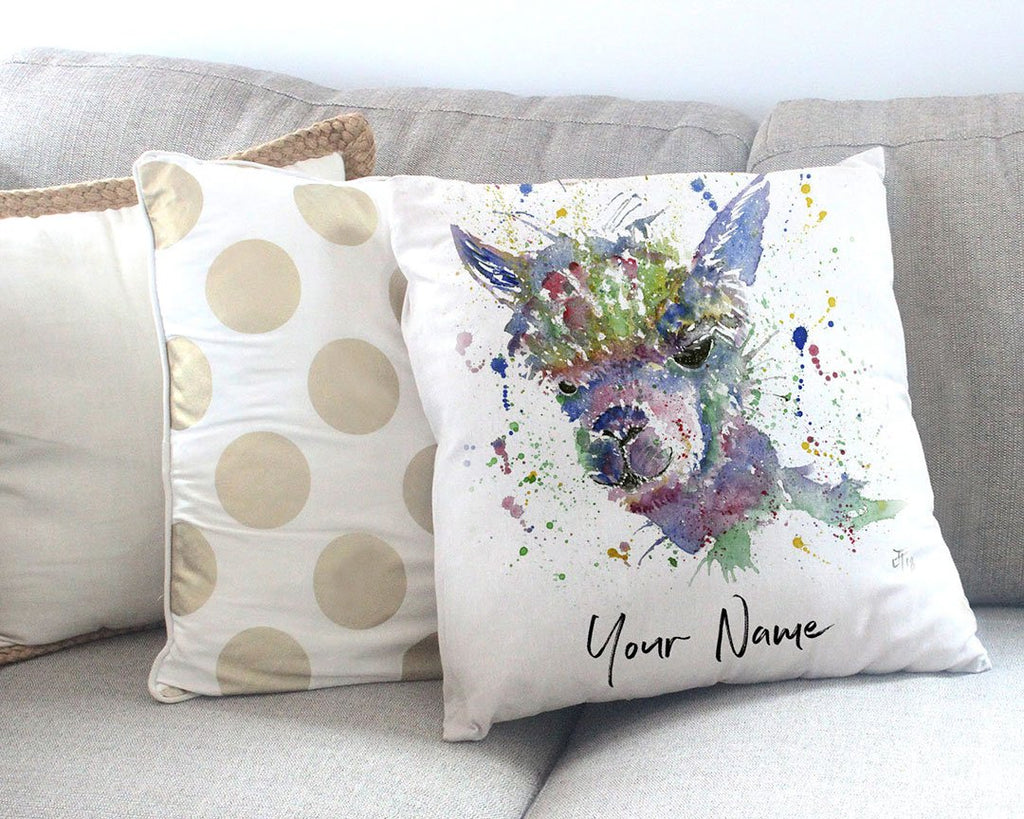 Alpaca Ca! Personalised Canvas Cushion Cover