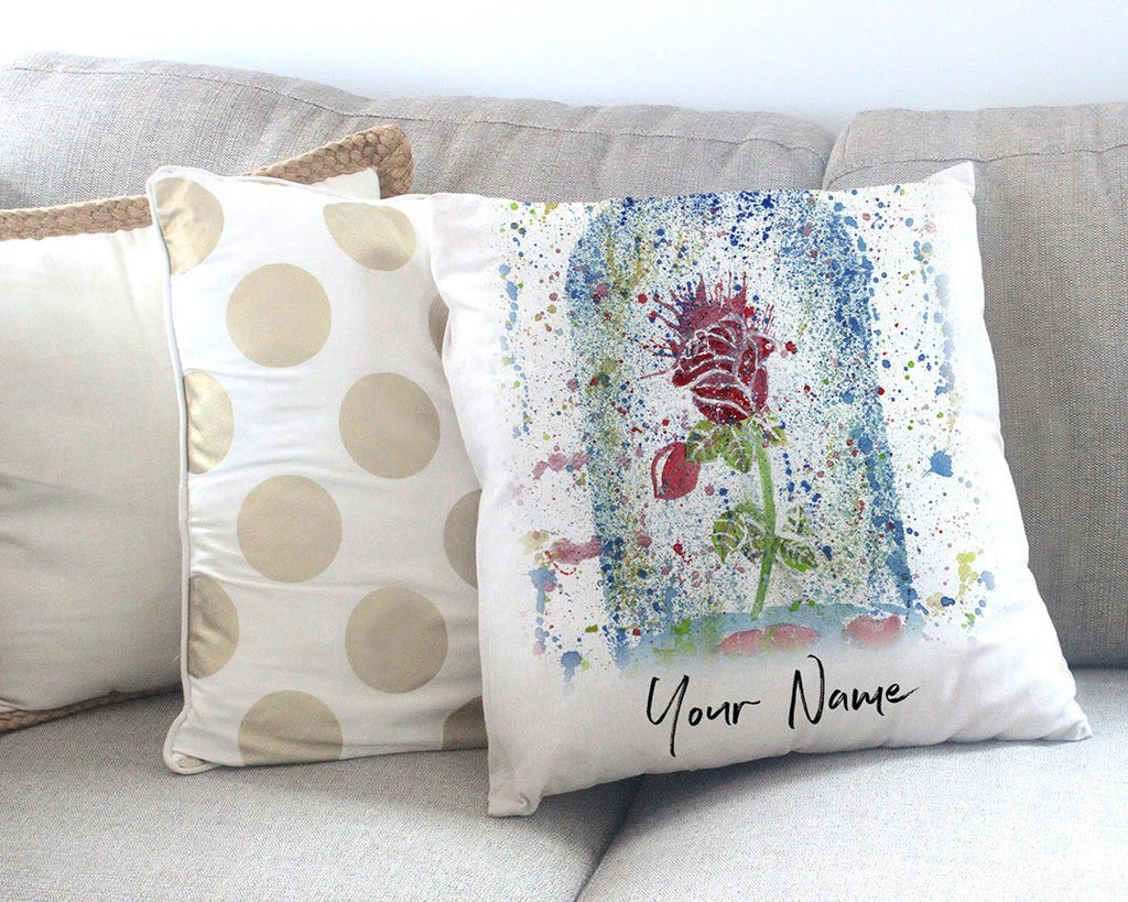 Magic Rose Personalised Canvas Cushion Cover