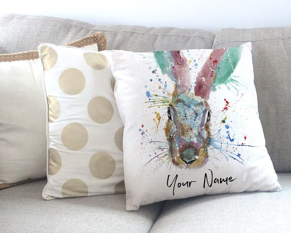 Riddle Hare Personalised Canvas Cushion Cover