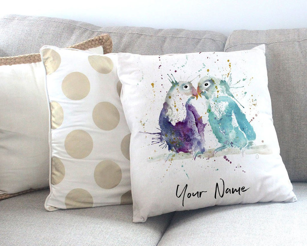 Olive & Cecil Personalised Canvas Cushion Cover