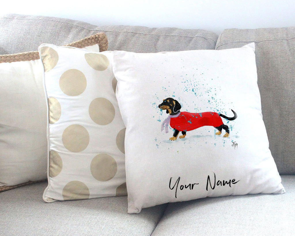 Sausage Roll Personalised Canvas Cushion Cover
