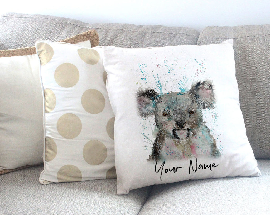 """Cookie"" Koala Bear Personalised Canvas Cushion Cover"